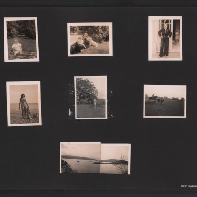 Family photographs, pets and scenic view