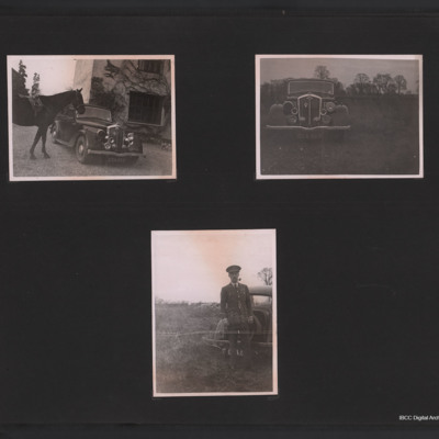 Horse, car and a Royal Air Force officer
