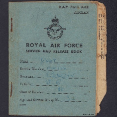 Sergeant James R Burdin's service and release book