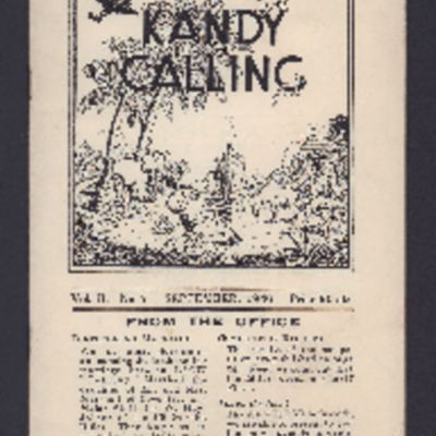 Kandy Calling September 1946