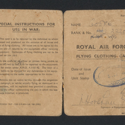 Flying Clothing Card