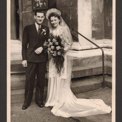 Jim and Sheila Copus's wedding in Camden Town