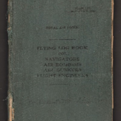 Ron Doble's flying log book for navigators air bomber air gunners flight engineers