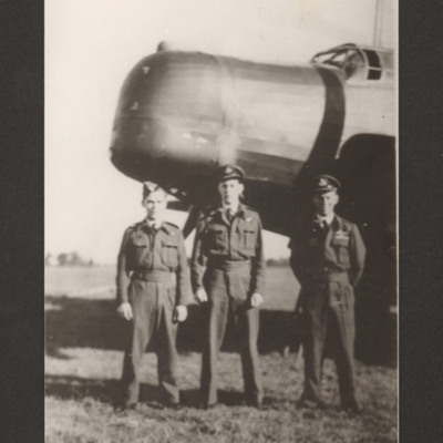 Three airmen and a Wellington