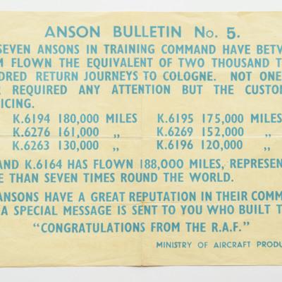 Anson Bulletin No 5