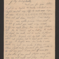 Letter from David Boldy to his mother