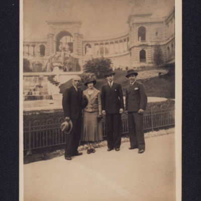 Three men and a woman in Marseille