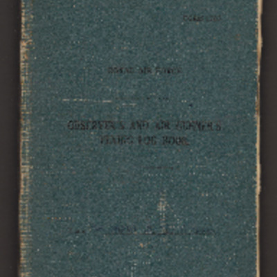 Stanley Shaw's observer's and air gunner's flying log book