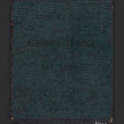 Harold Warren's Service and Pay book