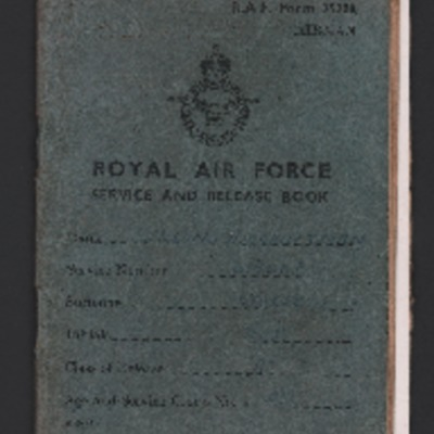 Service and Release Book for Leading Aircraftman H J Warren