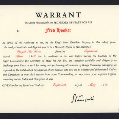 Fred Hooker - Warrant Officer