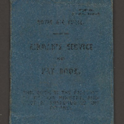 Roy Maddock-Lyon's Airman's Service and Pay book