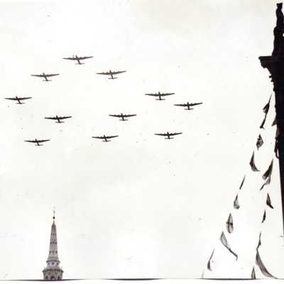 Formation of Lancasters over London
