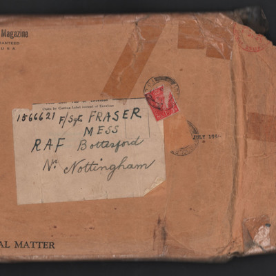 Envelope addressed to F/Sgt Fraser