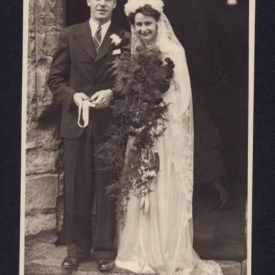 Donald and Syliva Fraser's wedding
