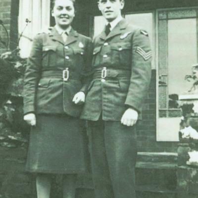 """Jocelyn """"Joyce"""" Strawford and Sergeant Arthur Long"""