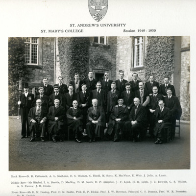 St Mary's College, St Andrew's University, Session 1949-50
