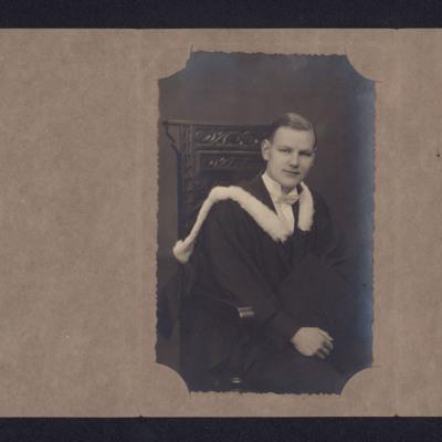 Harold Gorton graduation photograph