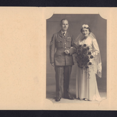 Harold  and Lilian Gorton's wedding