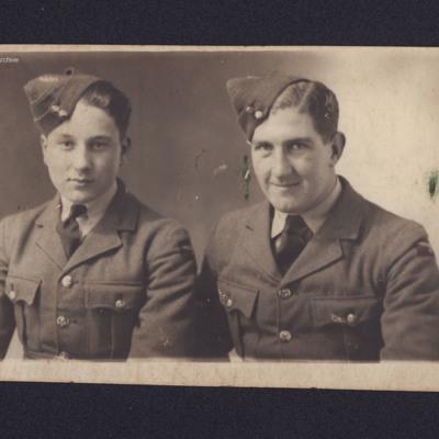 Hugh Woodfield and an airman