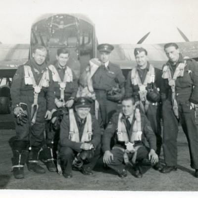 Seven airmen and Lancaster