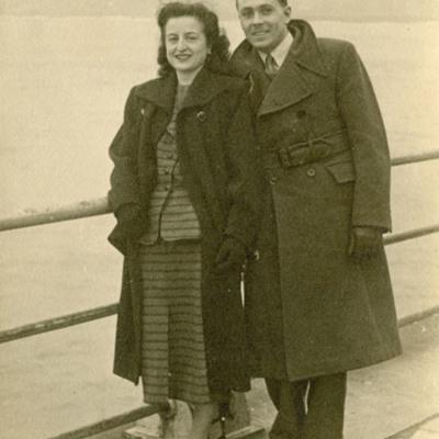 Denis Bradbury and a woman