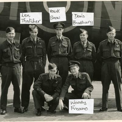 Denis Bradbury and his crew