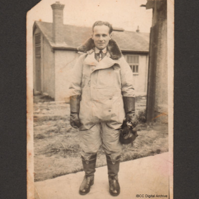 Harry Brooks in flying suit
