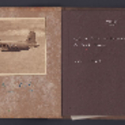 Album containing pictures of conversion of landing craft to motor launch, other activities, newspaper cutting and photographs of people.
