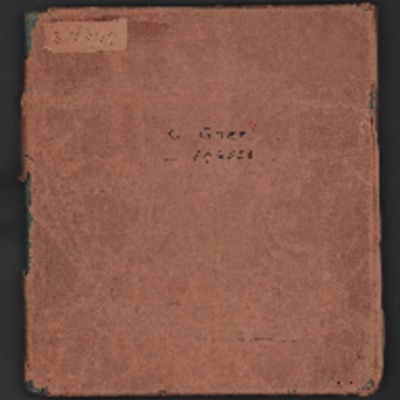 Cyril Charles Goff's pilot's flying log book. One