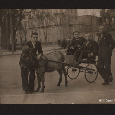 Paolo Troglio and a donkey cart