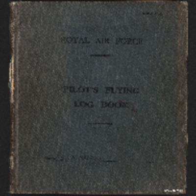 David Maltby's pilot's flying log book