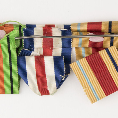 Charles Godfrey's medal ribbons