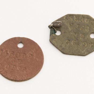 Charles Godfrey's dog tags