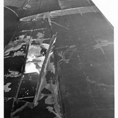 Lancaster wing damage