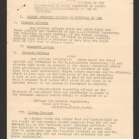Notes for information and guidance of the next-of-kin or other relatives of airmen reported missing, prisoner of war or deceased