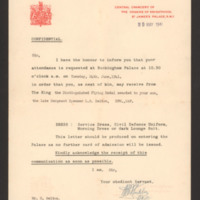Letter to S Belton