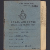 Reg Woolgar's service and release book