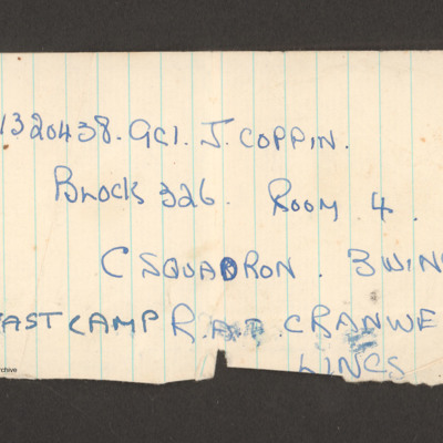 1320438 J Coppin's address