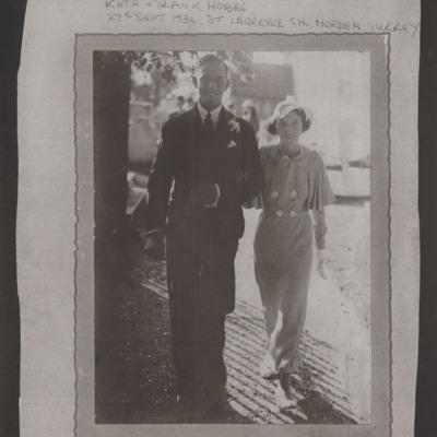 Frank and Kath Hobbs wedding