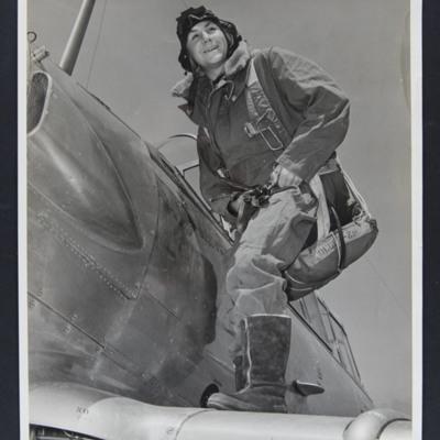 Pilot on wing of Harvard