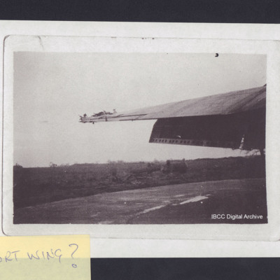 Damage to wing of aircraft