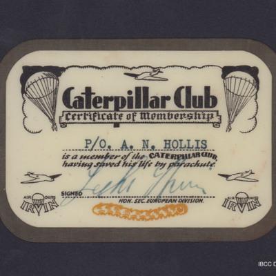 Caterpillar club membership card