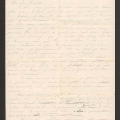 Letter from Douglas Hudson to Marcelle