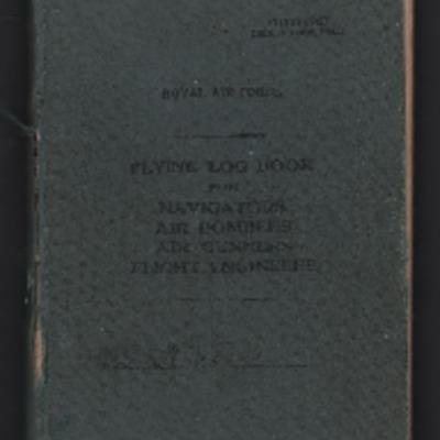 Richard Vipond's flying log book for navigators, air bombers, air gunners and flight engineers