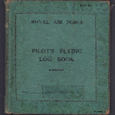 Ronald Mathers pilots flying log book. One