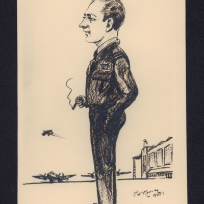 Caricature of Ron Mathers