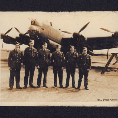Six airmen and a Lancaster