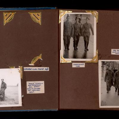 Sam Wrigley, James Wrigley and groups of airmen
