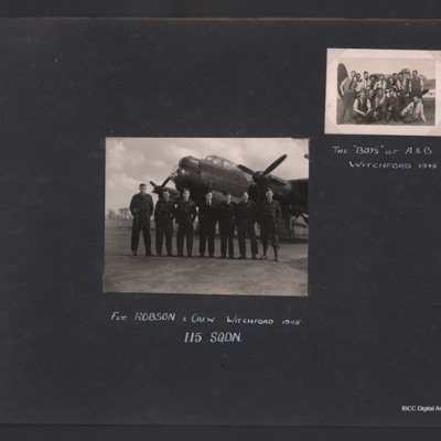 Aircrew and ground crew at RAF Witchford